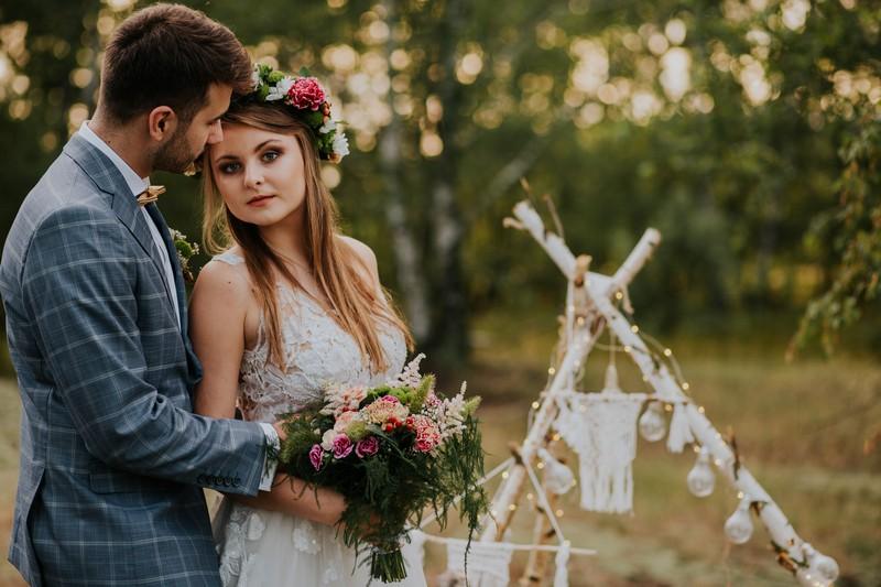Sesja ślubna w klimacie boho