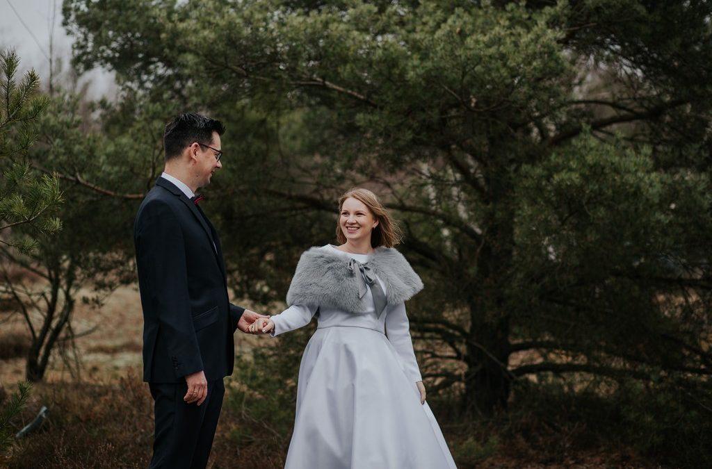M & P | sesja ślubna zimą
