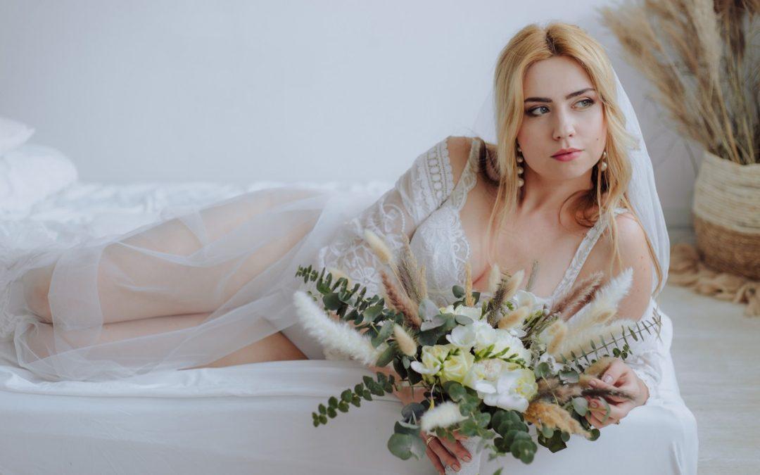 Sensualna sesja ślubna