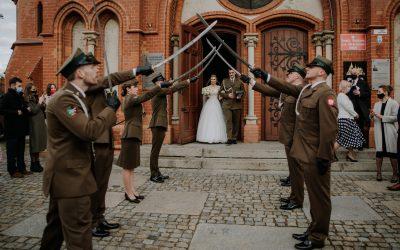 D&A   Ślub w Kościele Garnizonowym w Toruniu